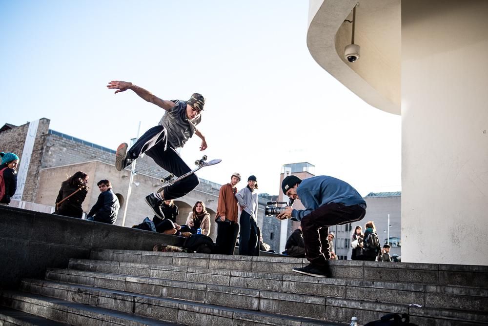 skateboard filmning